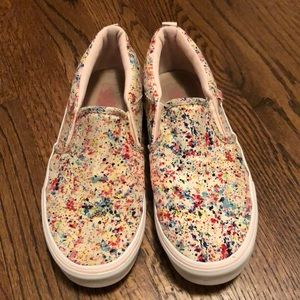 Vans slip on paint splatter canvas 6.5 US, 36.5